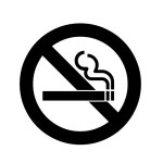 The symbol for an area where smoking is not permitted.