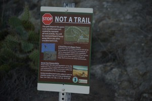 Signed Unauthorized Trail