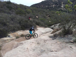Some illegal trails permanently damage cultural resources.